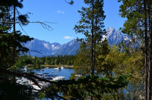 Die Grand Tetons bei Colder Bay